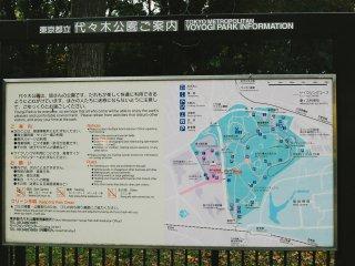 Peta Taman Yoyogi
