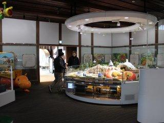「ギアワールド」。さまざまな仕組みで活躍する建機をジオラマで紹介している