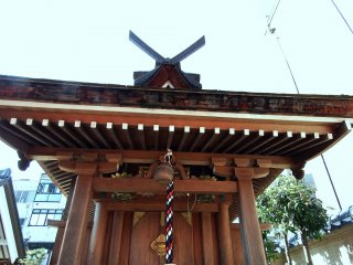 Front view of a small Fox Shrine