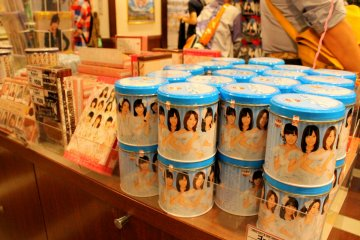 <p>AKB48 food souvenirs in assorted shapes and colors for keeps</p>