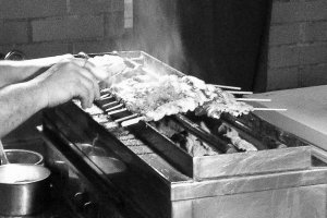 The charcoal grill