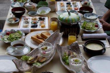 Breakfast table - or should I say brunch?