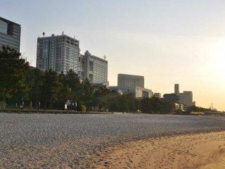 La plage d'Odaiba