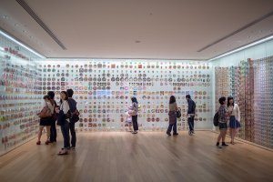 This room of the museum displays all the various forms of instant noodles across the globe