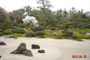 Dry landscape Japanese garden