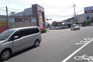2) Cross the street. After about 100 meters you see this shop on the left hand side of the street. Keep walking. It is a Pachinko shop, not a place for soup.