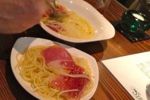 Pasta with Serrano Ham