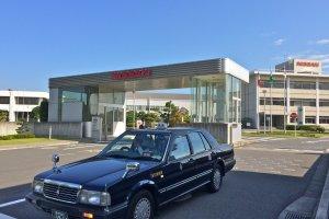 Main entrance to Nissan Motor Oppama Plant in Yokosuka, Kanagawa prefecture