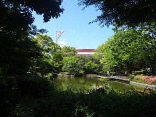 A lovely Japanese Garden is located in the back corner of the park.