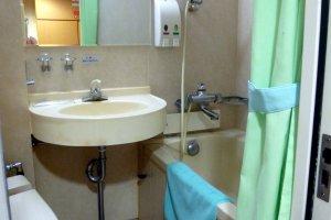 We didn't need this bathtub as the segregated communal baths were really nice.