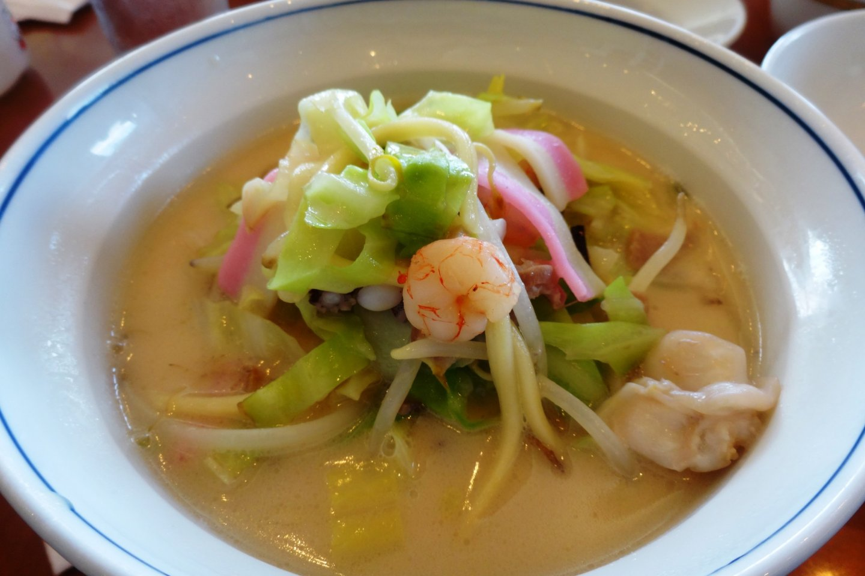 A bowl of Nagasaki's famous champon noodles