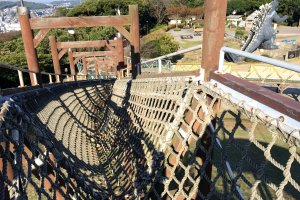 Challenge your adventure skills on this rope pathway to the tower