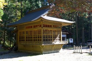 A gathering facility at Dai onsen shrine