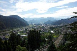 The View from Takahan Ryokan back over Yuzawa