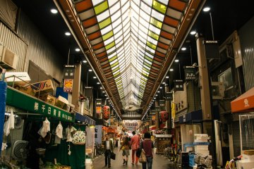 The total length of Kuromon Market is 580 meters long and more or less 191 stores.
