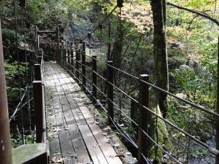 우메노키 폭포로 가는 작은 다리