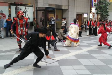 <p>Learning about fire safety is much more exciting when it involves swordplay! &nbsp;</p>