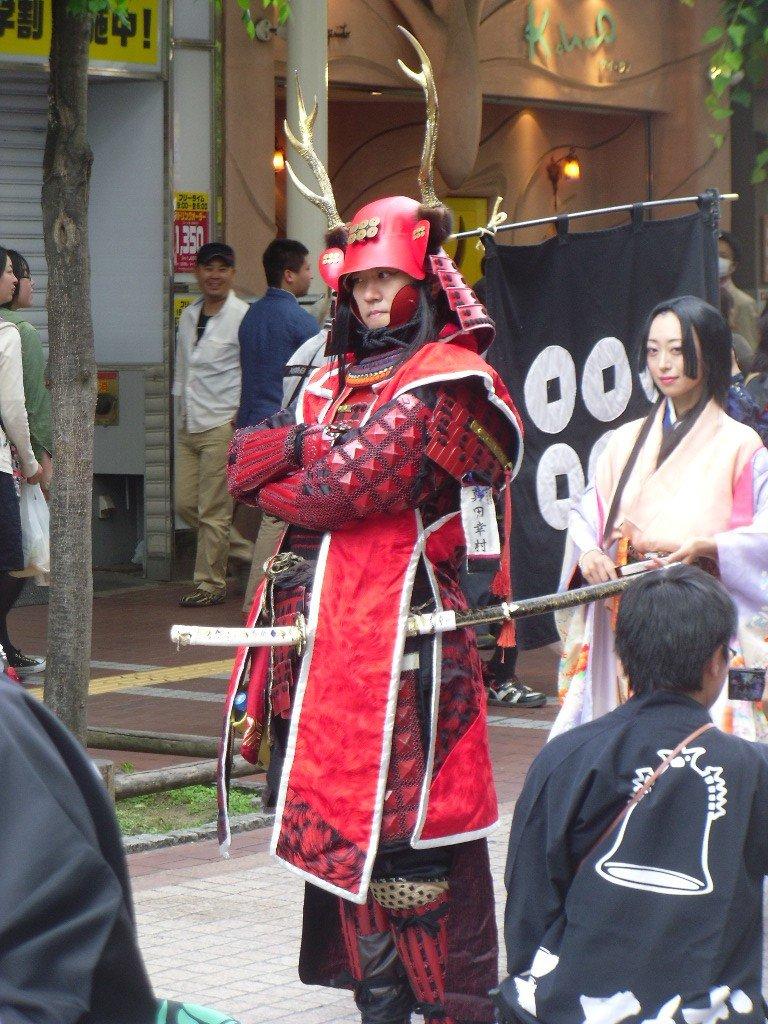 <p>Masamune&#39;s opponent, Sanada Yukimura, is a fearsome sight</p>
