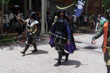<p>The lead member of the Date Bushotai: Date Masamune</p>