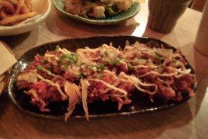 Delicious fried shrimp dish