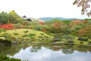 The rear garden of Isuien
