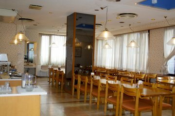 <p>The restaurant</p>
