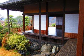 The view from Kobuntei's lower floor, over Lake Senba