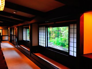 The hotel is decorated in Mingei (Japanese folk-art) style