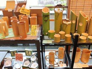 竹の酒器は実際とても使いやすい