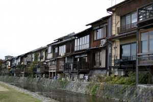 Beautiful houses along the river
