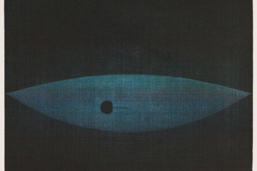 """Black Cherry"", a mezzotint print by Hamaguchi Yozo"