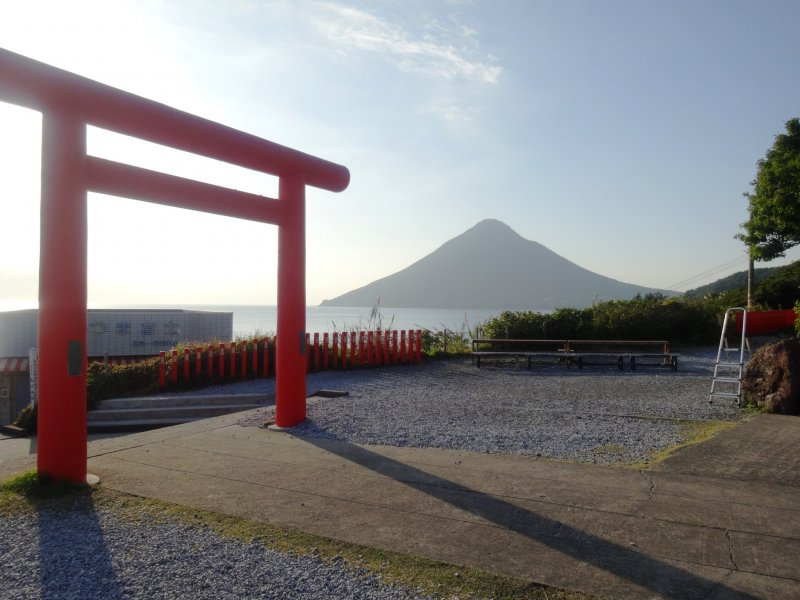 <p>The perfect cone of Mt Kaimon sits just off to the west of the cape</p>