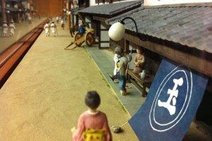 A diorama in the Uwa Museum of Folk Tools