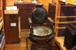 An old barber's chair