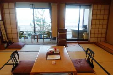 <p>One of the second floor suites at the ryokan</p>