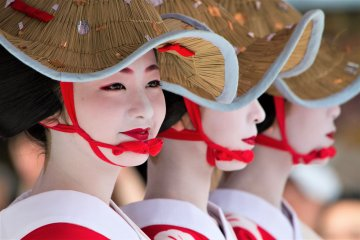 Gion Festivals are held in many towns throughout Japan