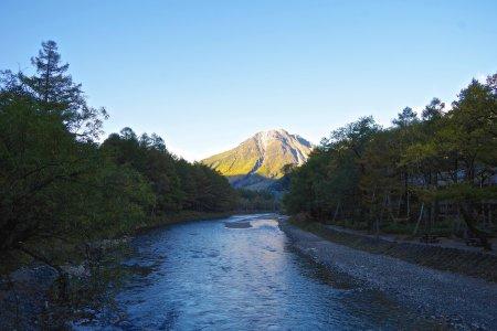 上高地と日本アルプス