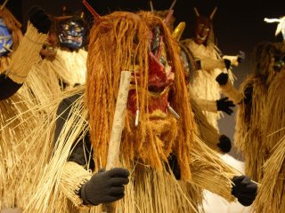 Men from the villages will dress up as Namahage during the new year season and visit houses in the villages to check in on children who have been good or bad during the year.