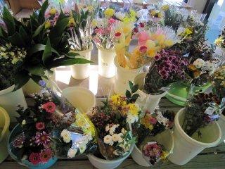 꽃도 지역 농가의 재배품이다