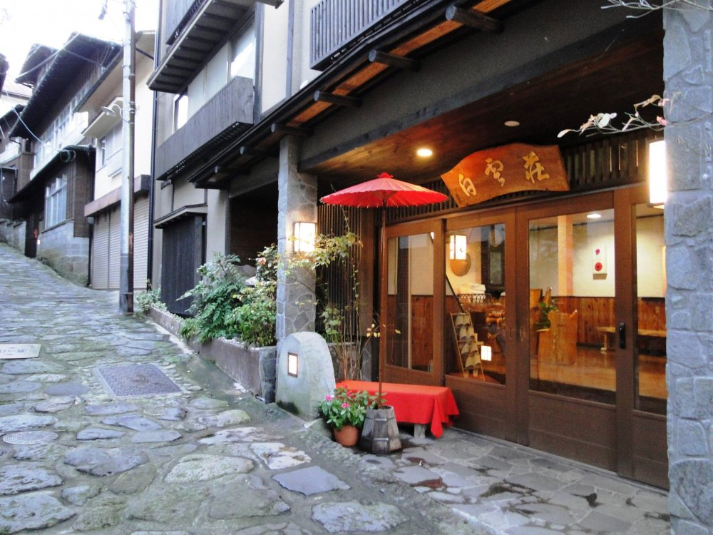 The town has a few shops and a handful of onsenryokan