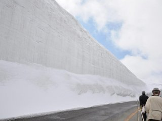 The snow walls were as high as 15 meters that day.  Oh, bring a hat to protect you from the sun and to keep you warm if needed.