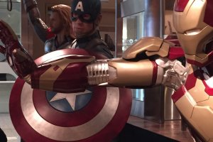 At the EASE Cafe, the Avengers could be seen in life size.