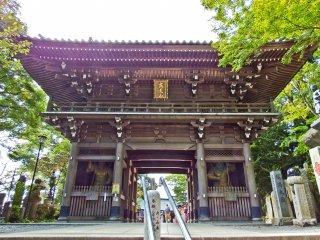 As you finally reach the temple precinct you have to pass through Shitenno-mon Gate
