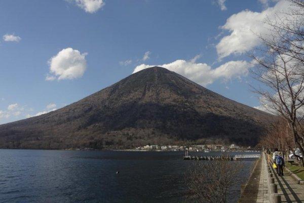 Mt. Nantai towers over this beautiful lake.