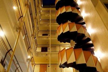 Spiral staircase at Azabu Court