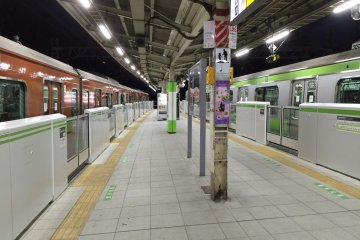 <p>Pick your train, green or red-brick brown?</p>