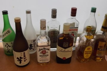 <p>The Happy Hour drinks line-up</p>