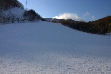 시모쿠라에서 처음으로 올라간 언덕