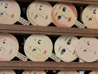 河合神社の絵馬、手鏡
