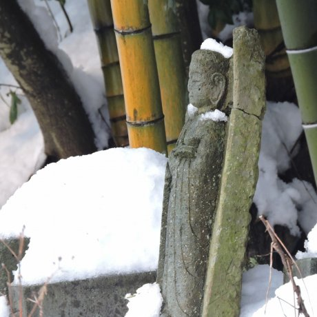 Jizo Statues in Snow at Taichoji